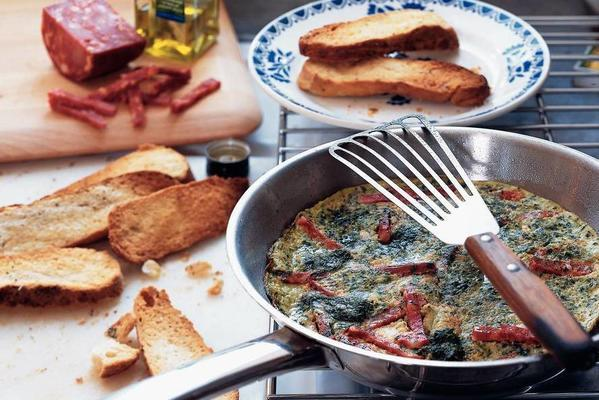 spinach omelette with focacciatoast