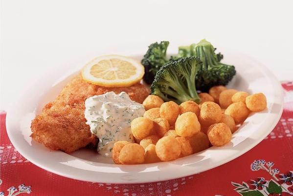fried plaice with garlic mayonnaise