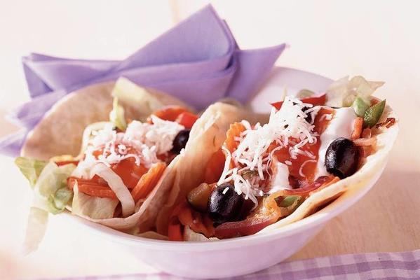 tacos with goat's cheese