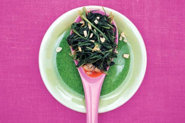 spinach with ginger and garlic