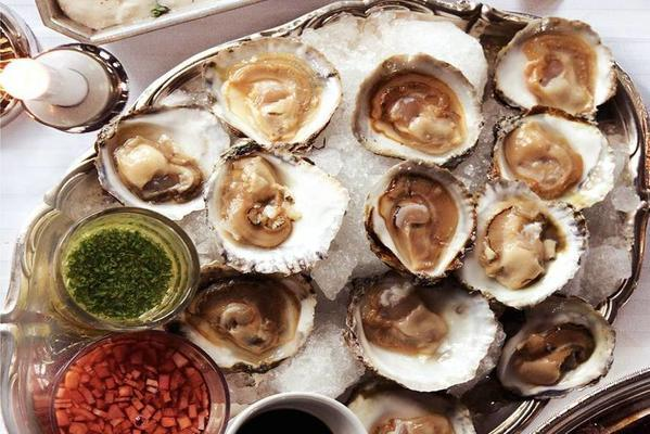 oysters with vinaigrette