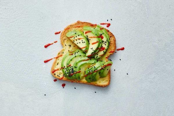 open corn bread sandwich spicy avocado