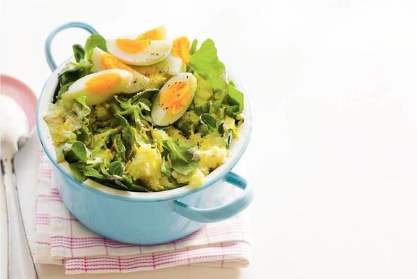 fresh salad with egg