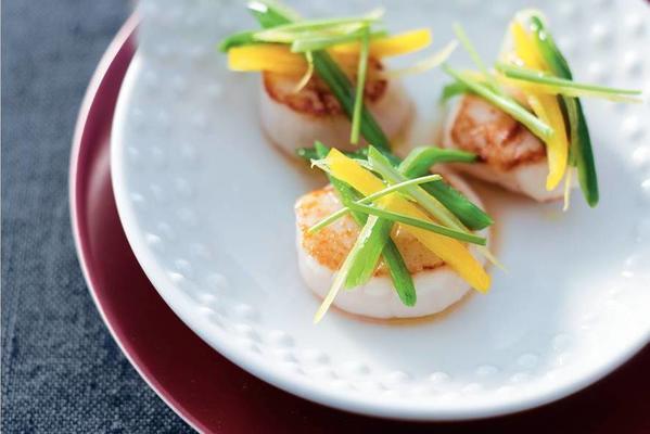 scallops with lemon vegetables