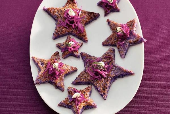 red cabbage blini