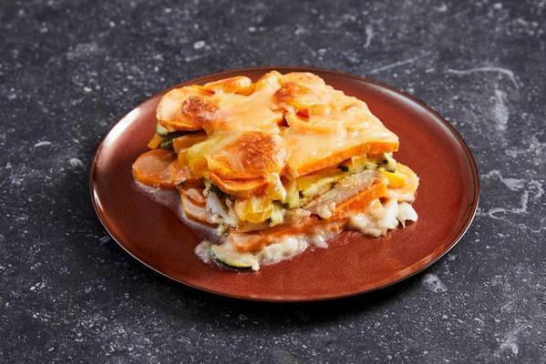 sweet potato dish with cod