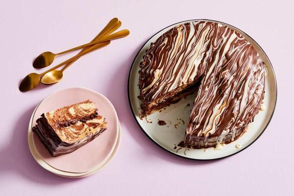 zebra chocolate cake