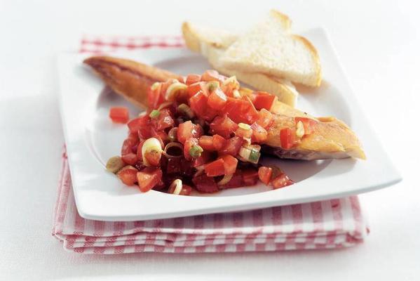 mackerel with tomato salsa