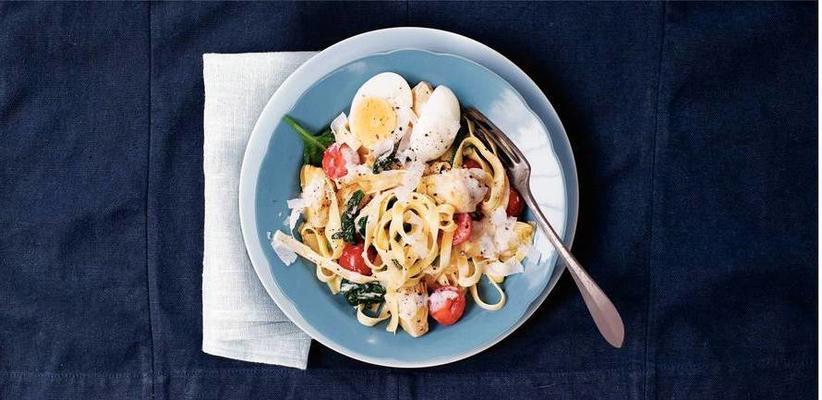 tagliatelle with artichoke and egg