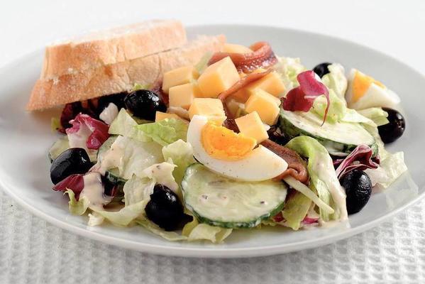 Italian salad with anchovies