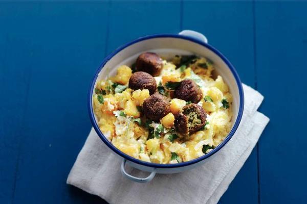 stew, yogurt and coriander