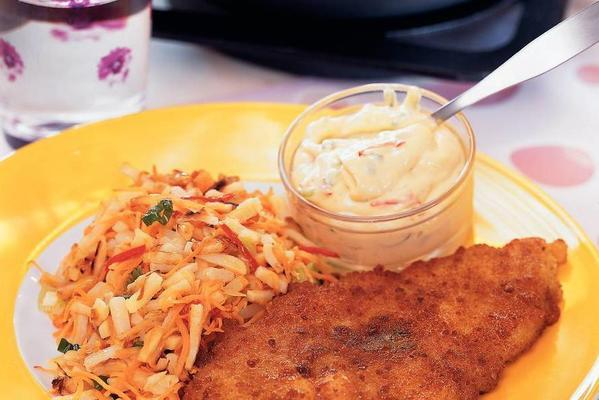 plaice with root rosti