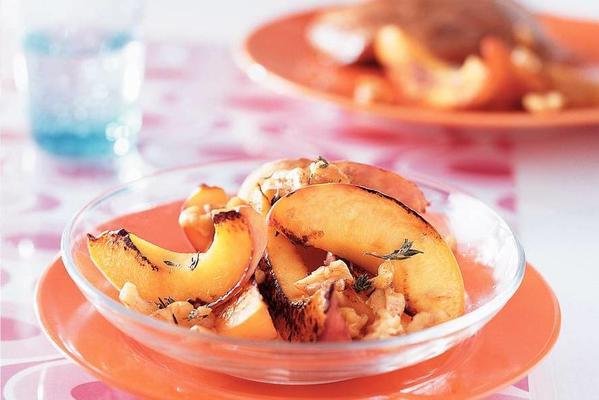 roasted peaches with nuts