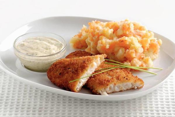 delicious bits with celeriac-mashed potatoes