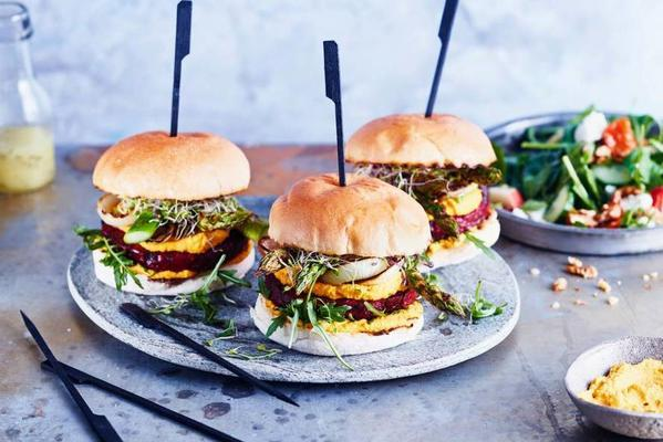 beet burgers from the bbq