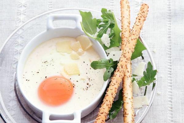 egg jar with arugula