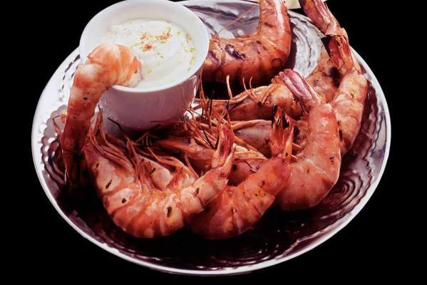 grilled shrimp with limedip