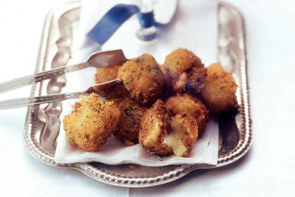 fried mozzarella with almond