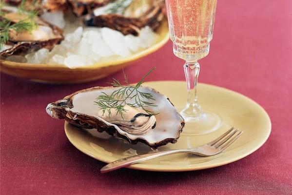 oysters poached in their own liquid