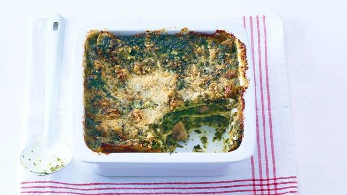 spinach lasagne with goat's cheese