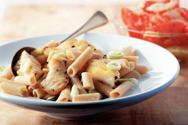 penne with redfish fillet