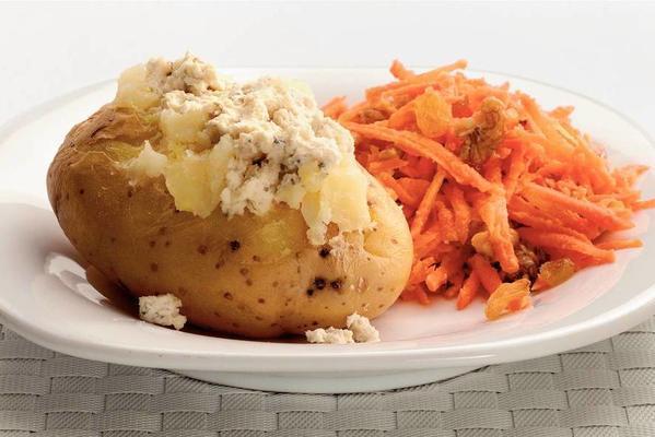 puffed potatoes with creamy garden herbs