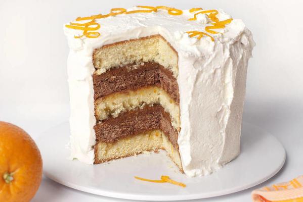 cream cake with orange