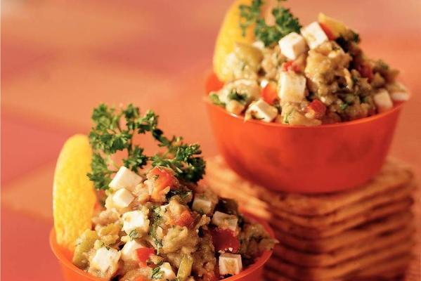 eggplant caviar with walnuts and cheese