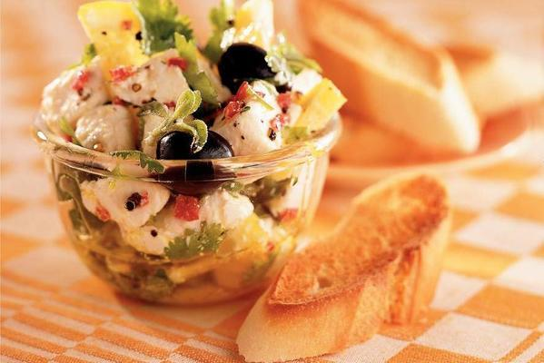 spicy marinated goat cheese and olives