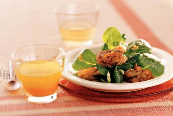 fried oysters with citrus dressing