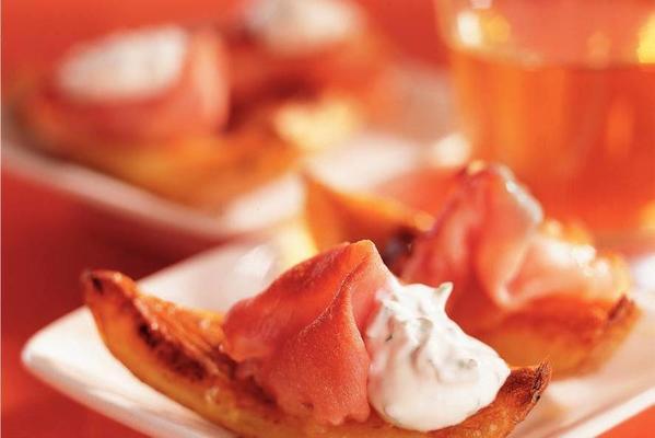 crispy potato boats with bacon