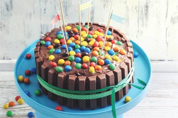 kitkat basket cake