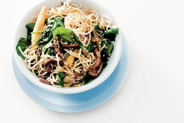 spring wok with spinach