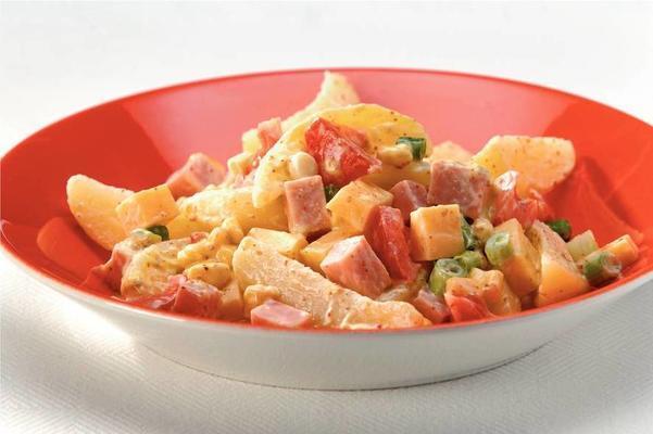 potato salad with ham mustard dressing