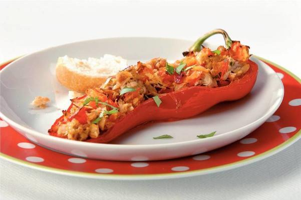 stuffed pointed peppers with tuna