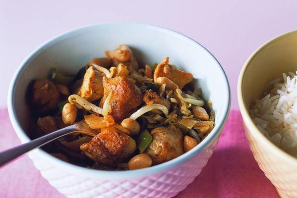 rice with oriental spiced chicken