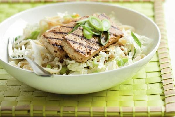 grilled tofu with noodle salad