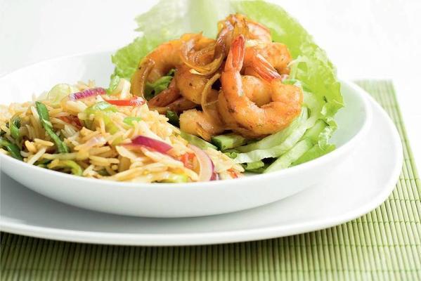 shrimp salad with thai rice