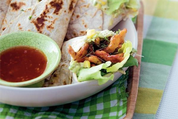 wraps with chicken and cress