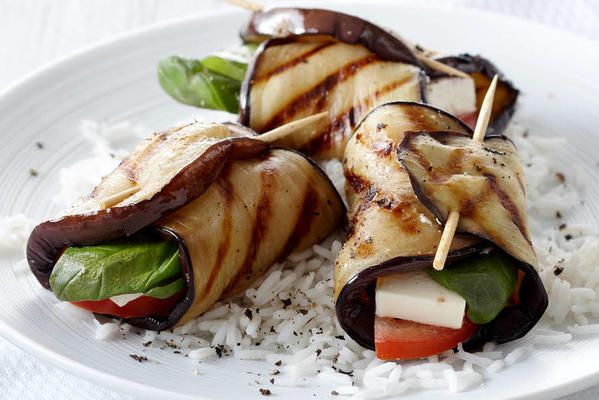 grilled eggplant packages from esther