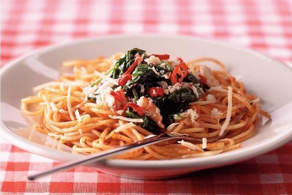 tomato spaghetti with crab