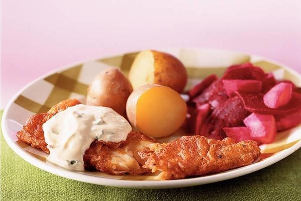 delicious bits with mustard sauce