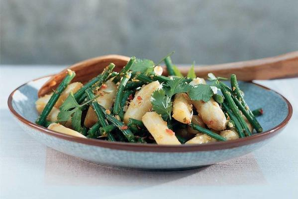 stir-fried asparagus with haricots verts