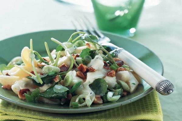pasta salad with watercress
