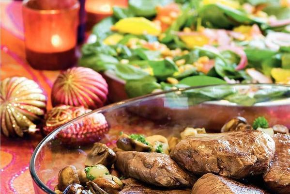 tenderloin with citrus salad