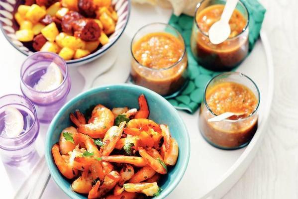 spicy garlic prawns