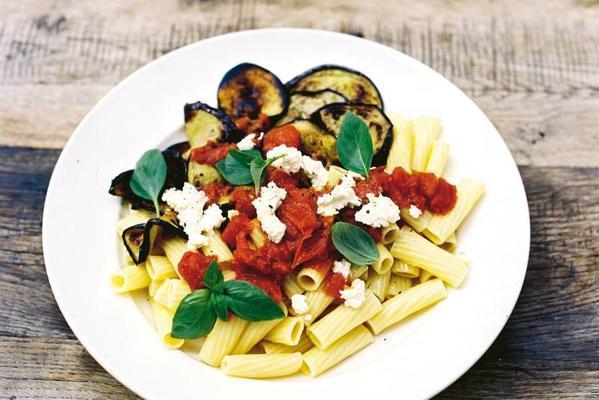 pasta alla norma with ricotta