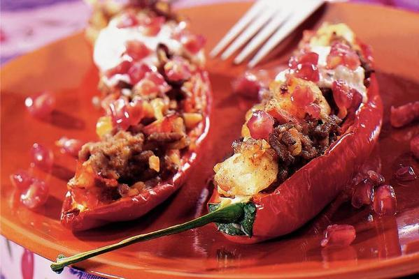 stuffed bell peppers with walnut sauce