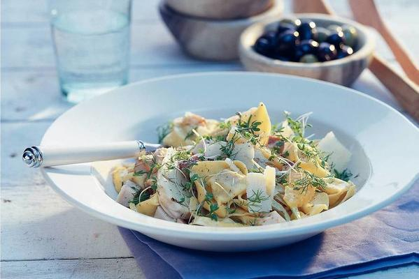 pasta salad with chicken and fennel