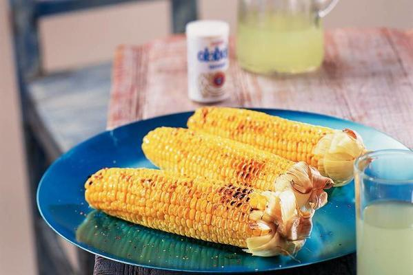 roasted corn cobs